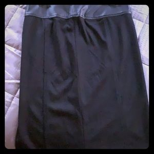 Pencil skirt Black with patent leather band waist